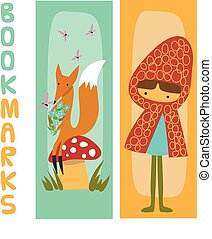 Bookmarks for kids with fox and cut - Cute bookmarks for...