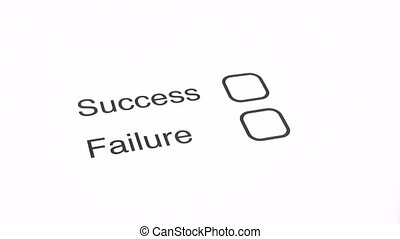 Being Unsuccessful - Marking the FAILURE checkbox on a...
