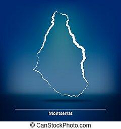 Doodle Map of Montserrat