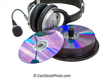 headphones, CD - headphones, vinyl records and cd CD-R, DVD...