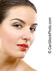 face with a wellness complexion
