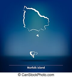 Doodle Map of Norfolk Island