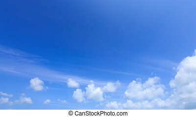 Time lapse cumulus clouds. - Time lapse cumulus clouds on...