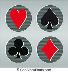 Poker playcard icons