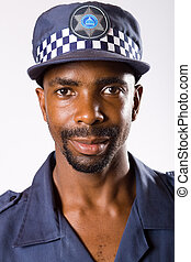 policeman - portrait of south african policeman