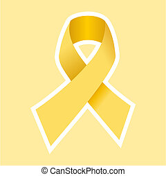 Aids hiv or Cancer symbol in gold - AIDS or CANCER ribbon in...