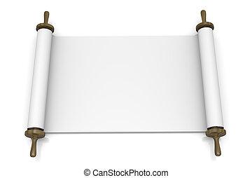 Open Blank Scroll