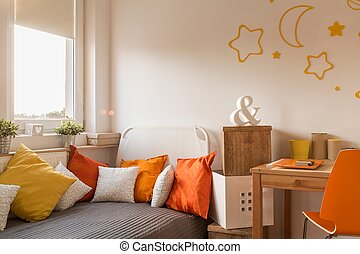 Cozy bedroom for little girl or teenager