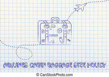 airlines cabin baggage size policy
