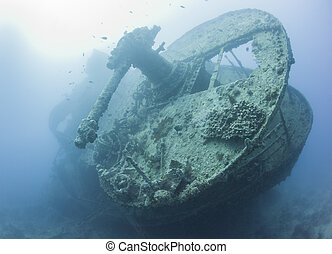 Stern section of a large shipwreck