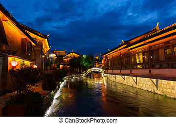 famous tourist attraction - Lijiang old town - famous...