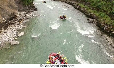 River Rafting Salzburg - River Rafting sport, fun on the...