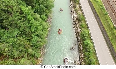 River Rafting on the Salzach - River Rafting sport, fun on...