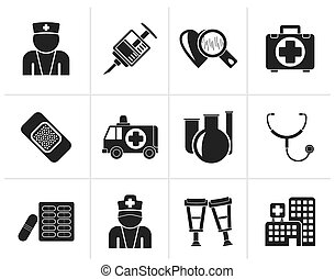 Medicine and healthcare icons - Black Medicine and...