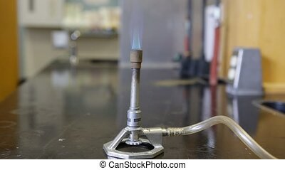 Bunsen Burner in Laboratory