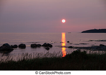 Sunset At Rocky Harbour - Atlantic Canada Sunset