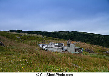 Saddle Island Relic - Old Boat on Saddle Island a UNESCO...