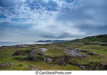 Saddle Island Landscape - Saddle Island in Labrador was once...
