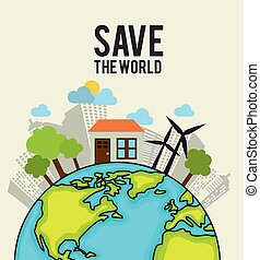 Go green design. - Go green design, vector illustration eps...