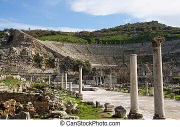 ancient ephesus theater - ancient ruine in ephesus theater...
