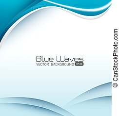 Blue waves design. - Blue waves design, vector illustration...