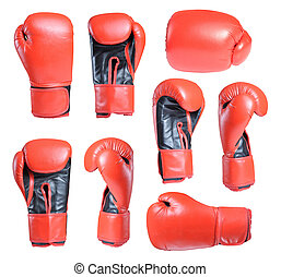 boxing gloves - Collection of boxing gloves isolated on...