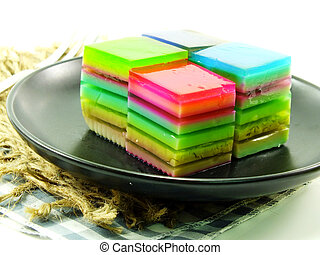 multi layered fruit jelly