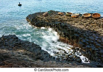 Ganh Da Dia, Viet Nam, rock, sea, travel, vietnam