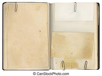 Blank Open Vintage Book