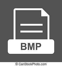 BMP , File - BMP, file, extension icon vector image. Can...