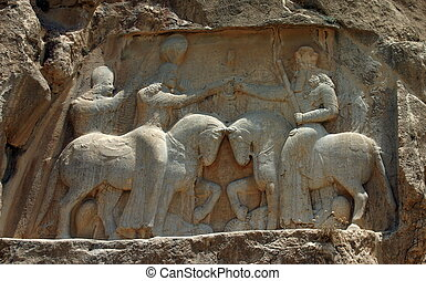 Naqsh-e Rostam, Tombs of Persian Kings, Iran - Naqsh-e...