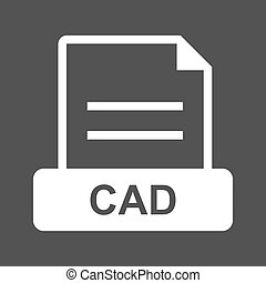 CAD , File - CAD, file, file extension icon vector image Can...