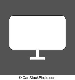 LCD Screen - LCD, tv, screen icon vector image.Can also be...