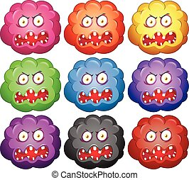 Germ with monster faces