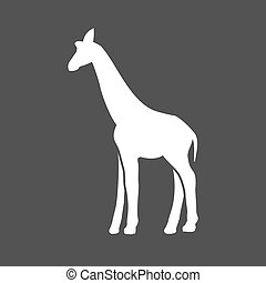 Giraffe, animal, wildlife icon vector image Can also be used...