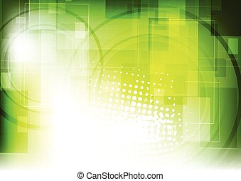 Green tech vector geometric background