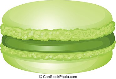 Macaron with cream inside illustration