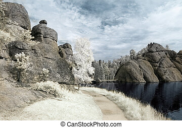 Sylvan Lake in Infrared - Trail by Sylvan Lake in the Black...