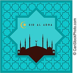 Eid-ul-adha mubarak greeting card