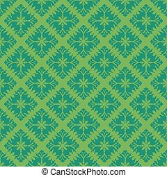 Green vintage seamless pattern