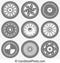 Motorcycle wheel icons