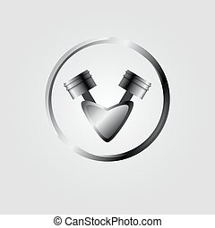 Vector engine piston icon