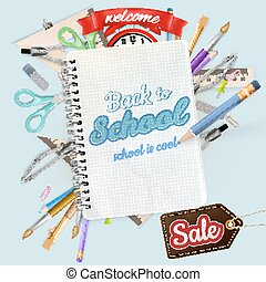 Back to school Sale Label card EPS 10 vector file included