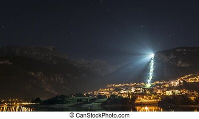 Molveno, star trails - Time lapse and star trails in a...