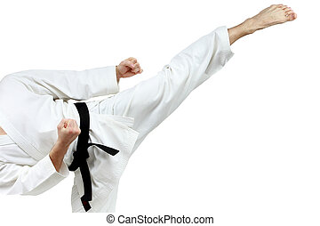 Mawashi geri kick is doing man - Mawashi geri kick is doing...