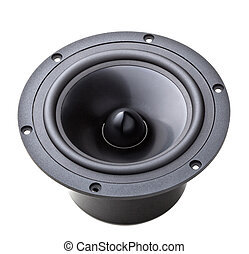 woofer on white - classic woofer speaker on white background