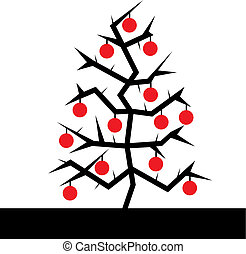 Christmas. Tree Vector Illustration - Christmas greeting...