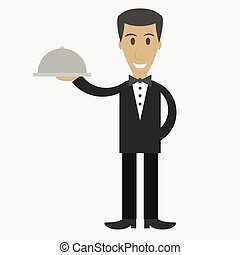 Waiter, cartoon character