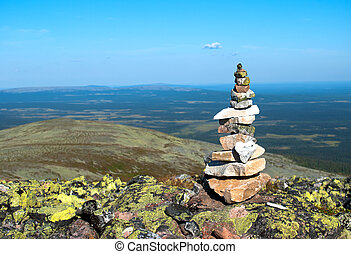 view from the mountain . Lapland, Finland,Yllas
