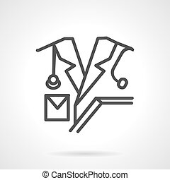 Medical personnel line vector icon
